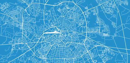 Urban vector city map of Odense, Denmark