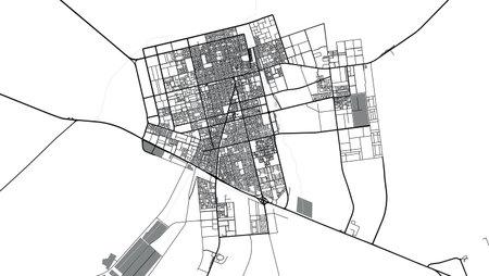 Urban vector city map of Hafar Al Batin, Saudi Arabia, Middle East Vektoros illusztráció