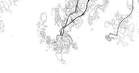 Urban vector city map of Karlskrona, Sweden, Europe