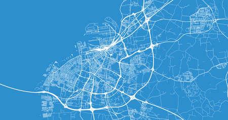 Urban vector city map of Malmo, Sweden, Europe Vektoros illusztráció