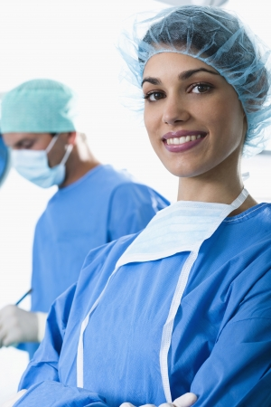 Medical personnel in operating room Stock Photo