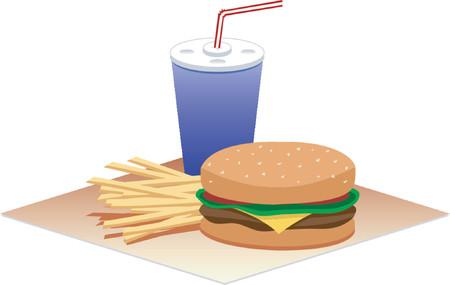 supper: Hamburger Time Illustration