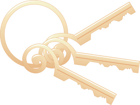 Scrollwork Keys with Ring Vector