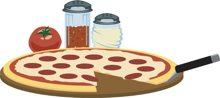 parmigiano: Tempo di pizza  Vettoriali