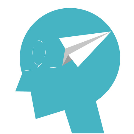 Head icon with paper plane.