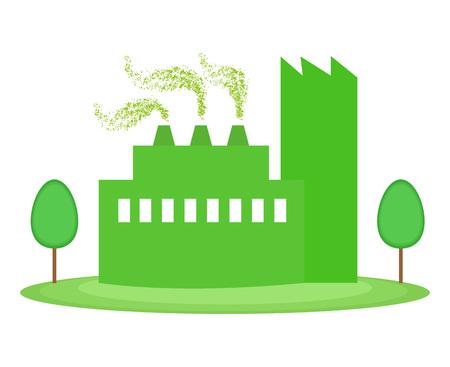 Grüne Fabrik, umweltfreundliches Konzept Standard-Bild - 74115094