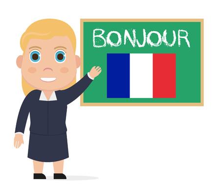 French teacher illustration