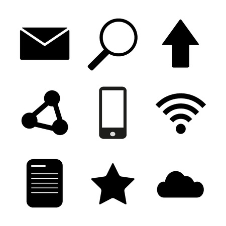Set modern icons
