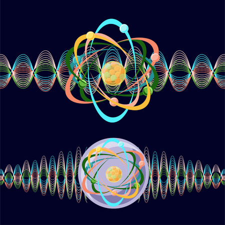 quark: Atom as a particle and wave.