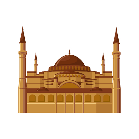 Hagia Sophia museum in Istanbul, Turkey isolated on white background.