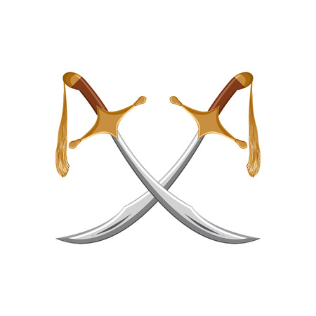 A pair of traditional turkish swords.
