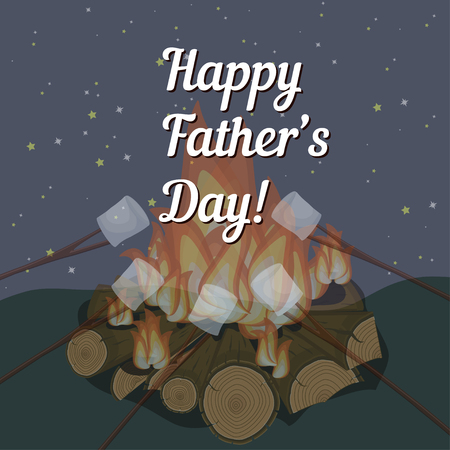 Happy Fathers Day greeting background in vector Illustration