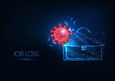 Futuristic job loss due to coronavirus impact on world economy concept