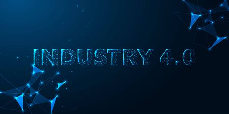 Futuristic industry 4.0, innovative technologies concept. Fourth industrial revolution.