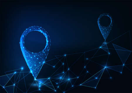 Futuristic route planning using map application on GPS smart device concept