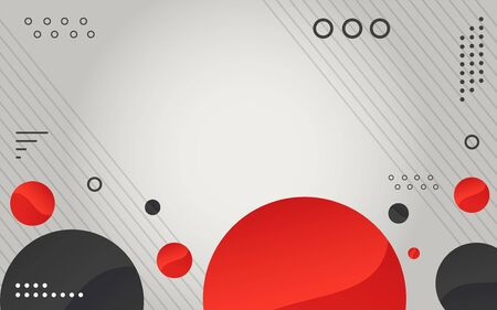 Abstract geometric modern circles background. Vector graphic illustration