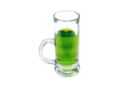 ajenjo: Glass of green absinthe