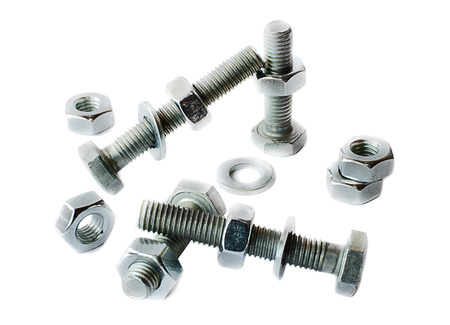 bolts and nuts: Screws and nuts isolated on a white background