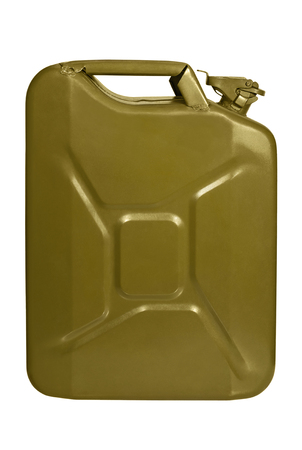 oil and gas industry: Army metal jerrycan khaki color