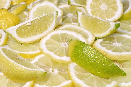 Fresh lemon slices background