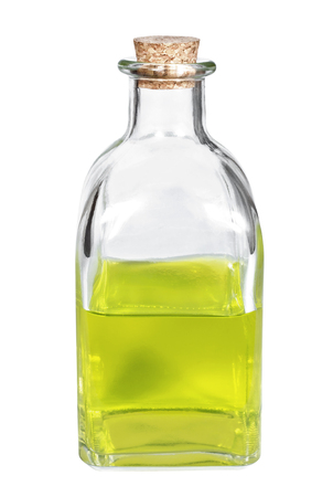 Bottle with aroma oil closeup