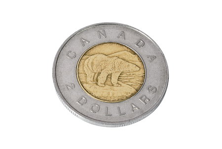 Coin of two Canadian dollars