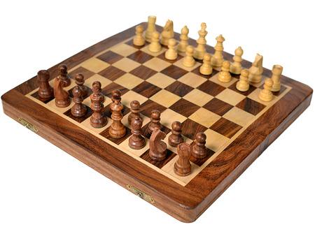 Chessboard with figures Standard-Bild