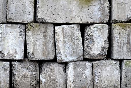 Stack of old building concrete blocks Reklamní fotografie