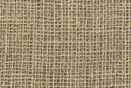 Natural sackcloth texture background closeup