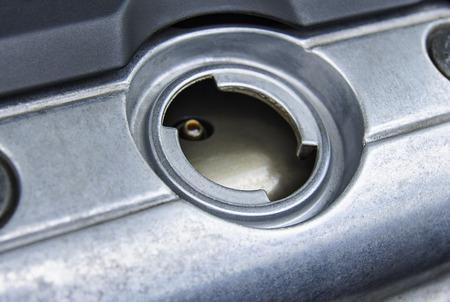 Engine oil filler hole. Ð¡ar repair and maintenance