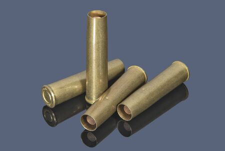 Brass ammo for revolver. Armament and ammunition.