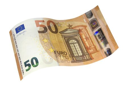 New specimen banknote of fifty Euro. Money and finance.