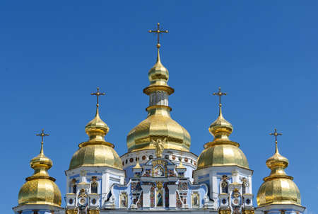 St. Michael's Golden-Domed Monastery in Kiev. The top part. Religion and places of worship