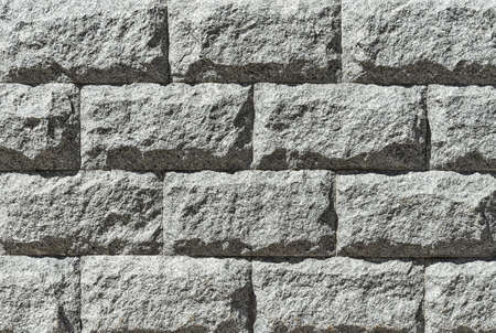 Gray granite masonry close up. Backgrounds and textures