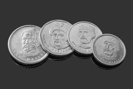 New Ukrainian hryvnias coins. Money and finances