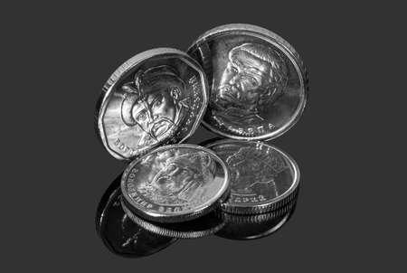 New coins of Ukrainian hryvnias. Money and finance