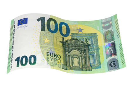 New banknote of one hundred EURO close up. Money, business and finance 免版税图像