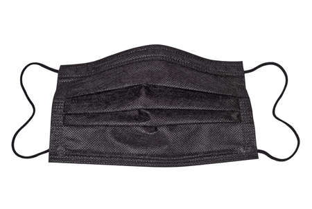 Textile protective face mask. Medical protection and hygiene products