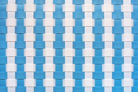Synthetic weave texture of white and blue color. Backgrounds and textures