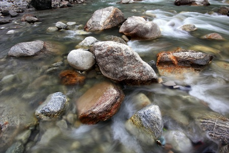 Rock in the river photo