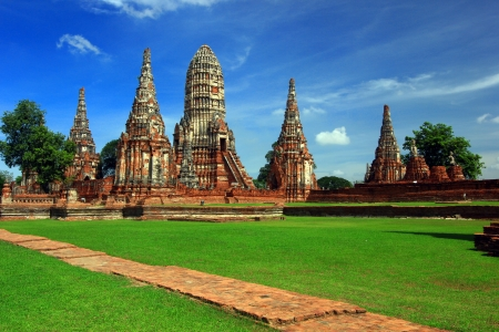 Chaiwattanaram temple in Ayutthaya, Thailand photo