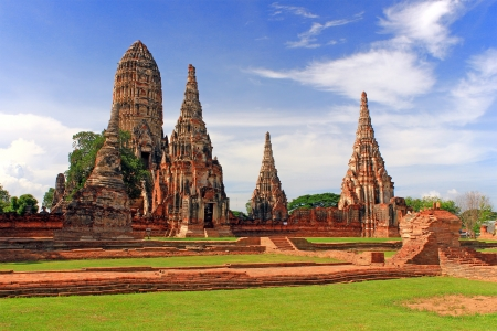 Chaiwattanaram temple in Ayutthaya Historical Park, Thailand photo