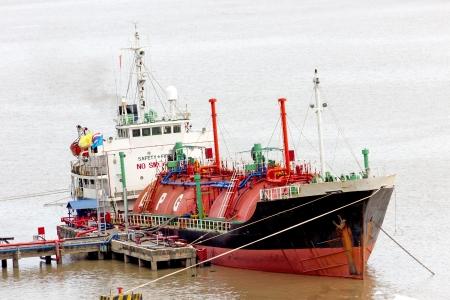 l p g: LPG buque Foto de archivo