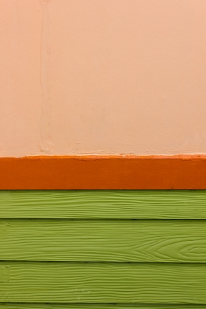 Red orange and green wall photo