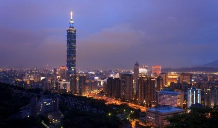 Panorama in Taipei Stock Photo