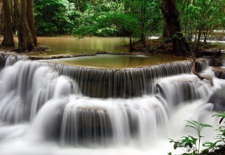 khamin: Waterfall, Huay Mae Khamin, Kanchanaburi Province, Thailand