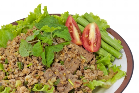 Hot Meat Dishes Set 13/16 - Thai Spicy minced meat salad photo