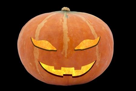 cucurbit: Halloween pumpkin Jack O Stock Photo
