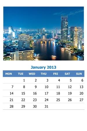 2013 calendar  Stock Photo - 16837561