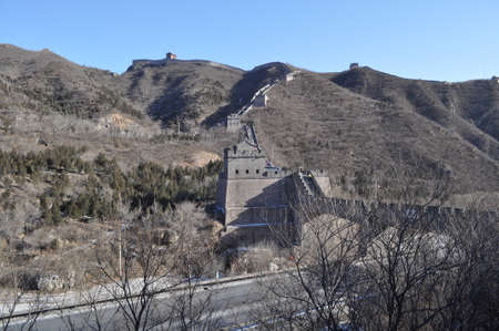 greatwall: greatwall the landmark of china and beijing  Stock Photo